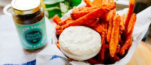 Jerk Mayo sweet potato fries